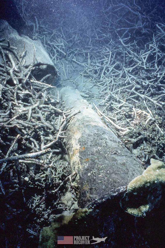 WWII Japanese trawler gun mount sunk by Pres. G. H. W. Bush