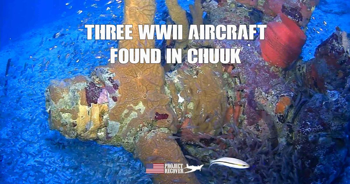 propeller of underwater airplane wreckage of World War II aircraft in Chuuk