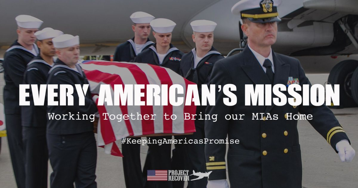 Navy Honor Guard Carrying Casket from Plane - Bringing our MIAs home - Every Americans Mission