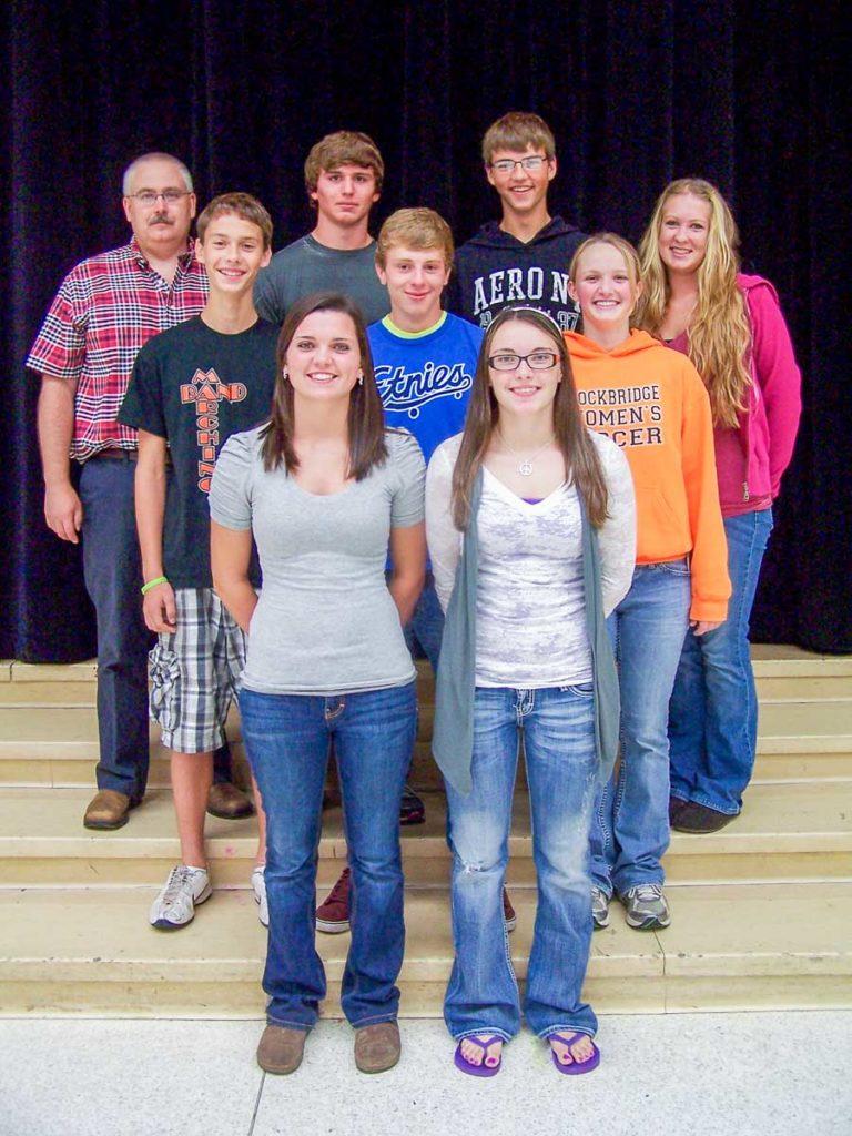 group photo of the 2012 Stockbridge ROV Team