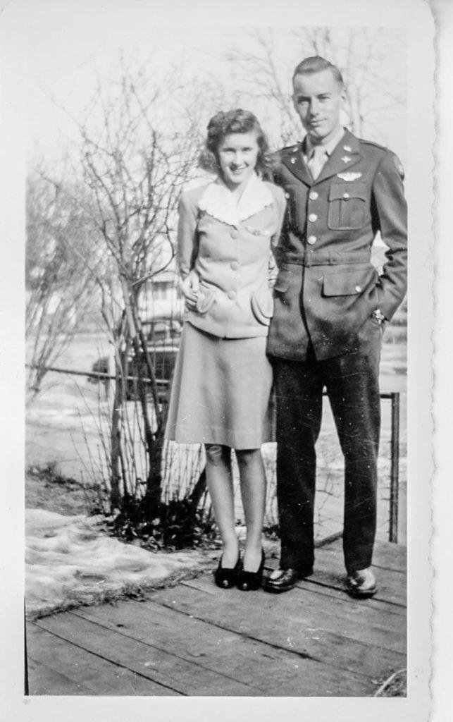 2nd Lt. Arthur Schumacher and girlfriend
