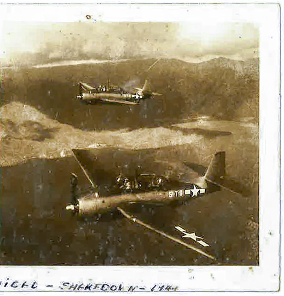 Trinidad Shakedown WWII aircraft fly in formation during WWII