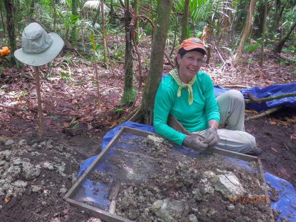 Jo Schumacher excavating Palau