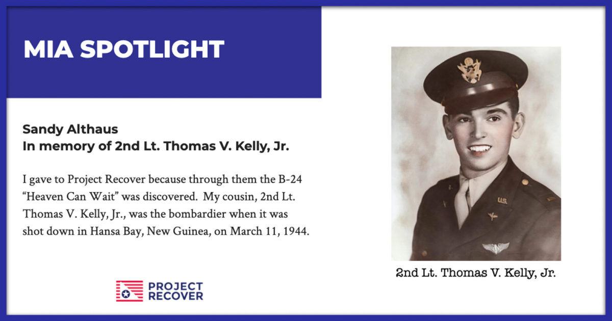 2nd Lt. Thomas V. Kelly, Jr-1