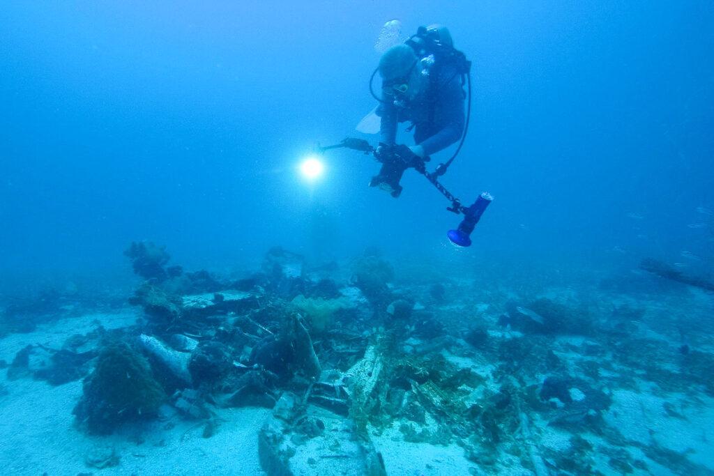 Mark Moline Documents an SBD in Chuuk