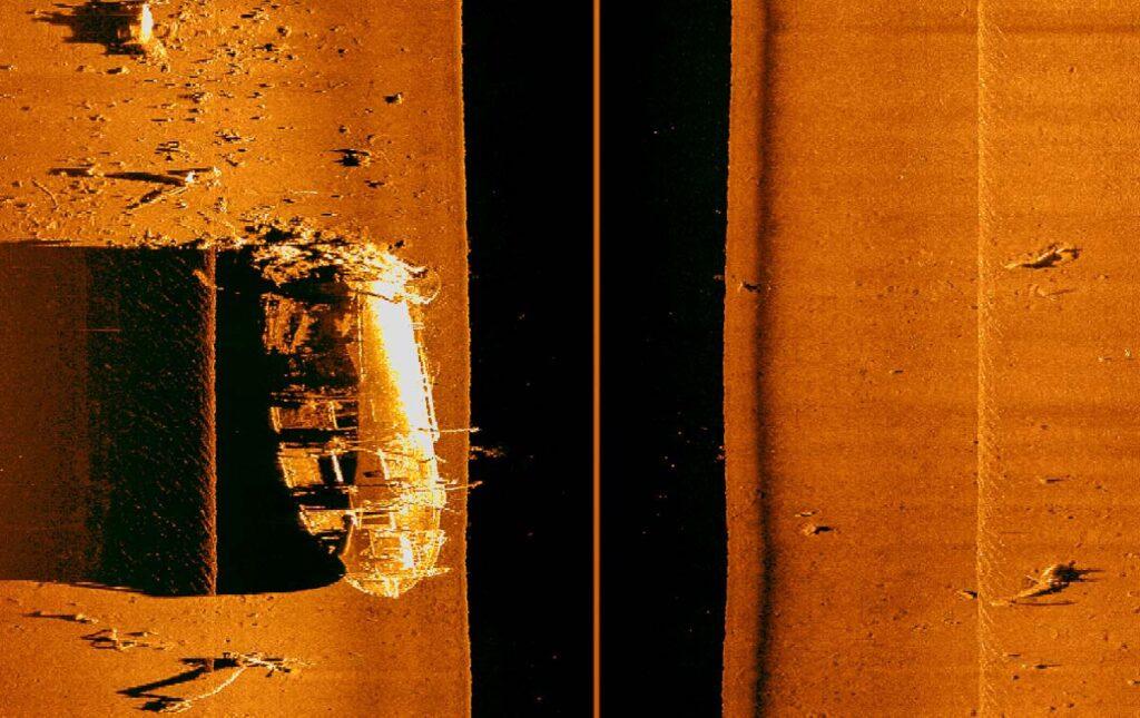 Side Scan Sonar Image of the Aikoku Maru 600khz